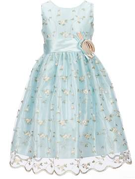 Jayne Copeland Big Girls 7-12 Floral Embroidered Dress
