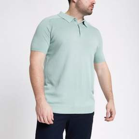 River Island Mens Big and Tall green slim fit polo shirt