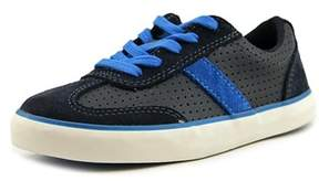 Clarks Club Walk Youth W Round Toe Leather Blue Sneakers.