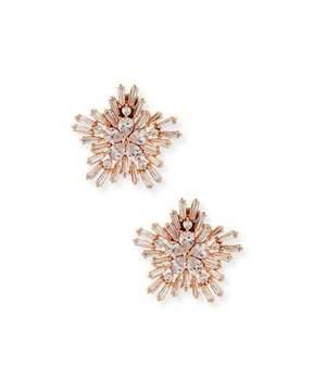 Fallon Monarch Starburst Crystal Earrings, Rose Golden