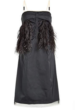 N°21 N21 Dress with Ostrich Feathers and Tulle