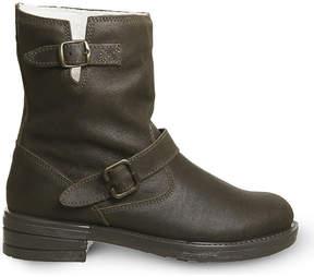 Office Casual Biker suede boots