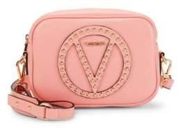 Mario Valentino Embellished Leather Shoulder Bag