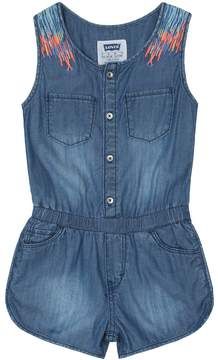 Levi's Girls 4-6x Embroidered Denim Romper