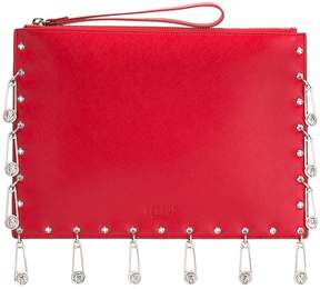 Versus pins embellished clutch