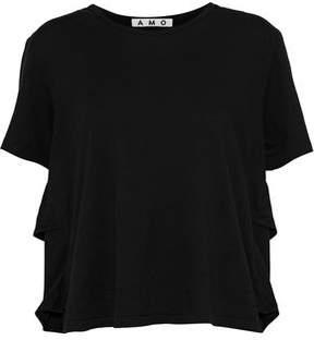 Amo Tomboy Distressed Cotton-Jersey T-Shirt