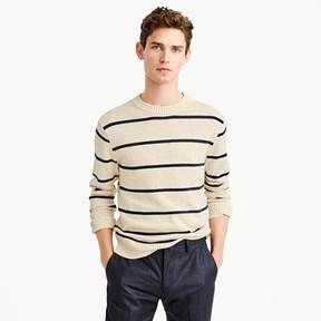 J.Crew Cotton-wool crewneck sweater in wide stripe