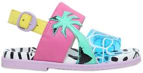 Sophia Webster Palm Tree Nappa Leather & Pvc Sandals