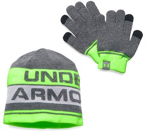 Under Armour Boys' Beanie & Tech Gloves Set - Little Kid, Big Kid