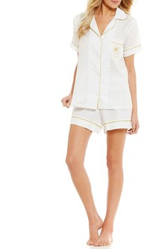 BedHead Celebrate Champagne-Embroidered Classic Pajamas