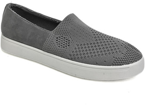 Bamboo Gray Knit Grand Slam Slip-On Sneaker