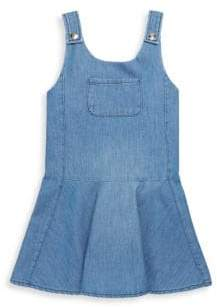 Chloé Toddler's, Little Girl's& Girl's Front Pocket Denim Dungaree Dress