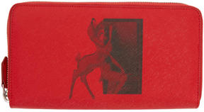 Givenchy Red Bambi Continental Wallet