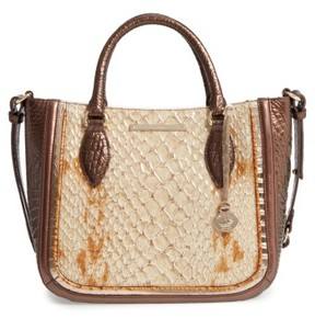 Brahmin Honey Carlisle Small Lena Leather Satchel - Brown