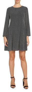 Cece Clip-Dot Swing Dress