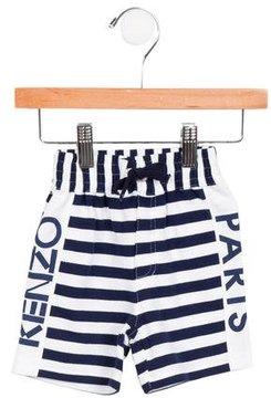 Kenzo Boys' Striped Logo Shorts w/ Tags