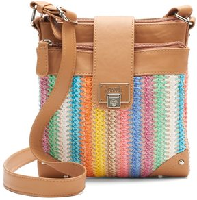 Rosetti Double-Time Straw Crossbody Bag