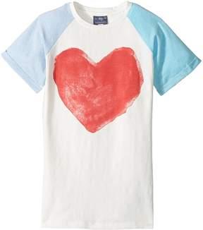 Toobydoo Watercolor Heart Tee Girl's T Shirt