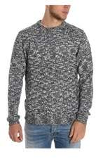 Sun 68 Men's Grey Wool Sweater.