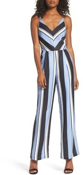 Adelyn Rae Women's Stripe Crepe Jumpsuit