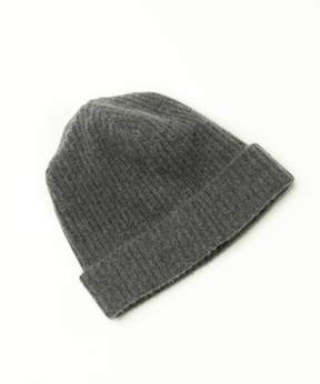Portolano Cashmere Ribbed Hat With Folded Cuff.