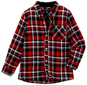 Andy & Evan Flannel Buttoned Shirt (Toddler & Little Boys)