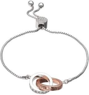 Brilliance+ Brilliance Always Together Two Tone Adjustable Bracelet with Swarovski Crystals