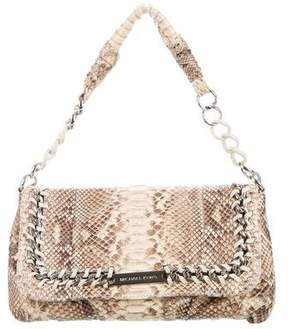Michael Kors Python Shoulder Bag - BROWN - STYLE