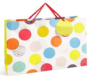 Marks and Spencer Bright Oversized Spot Print Extra Large Gift Bag