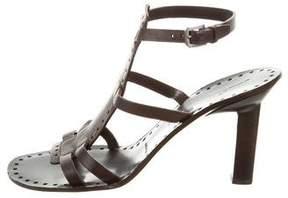 Jil Sander Leather Gladiator Sandals