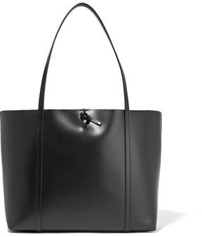 KARA - Tie Leather Tote - Black