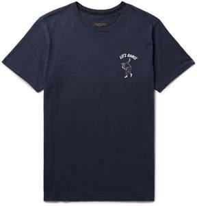 Rag & Bone Printed Cotton-Jersey T-Shirt