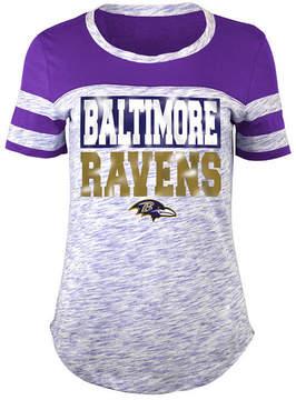 5th & Ocean Women's Baltimore Ravens Space Dye Foil T-Shirt