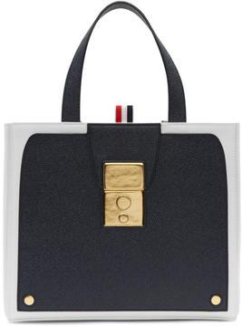 Thom Browne Navy Trompe LOeil Bag