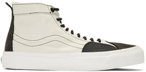 Vans Off-White and Black Taka Hayashi Edition TH SK8 Skool LX High-Top Sneakers