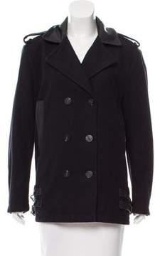 Diesel Leather-Trimmed Wool Jacket