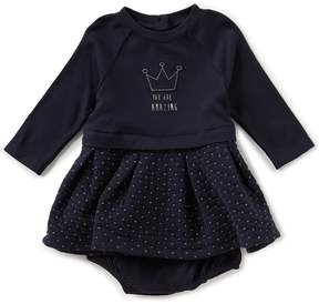 Robeez Baby Girls Newborn-24 Months Long-Sleeve Quilted Dress