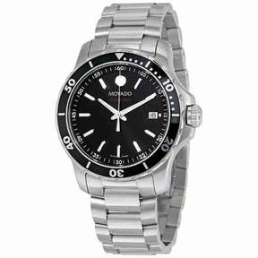 Movado Series 800 Black Dial Stainless Steel Men's Watch 2600135