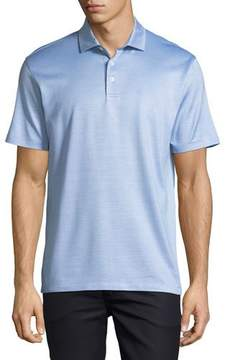 Ermenegildo Zegna Silk-Blend Polo Shirt, Blue
