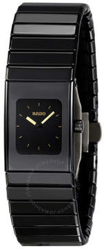 Rado Ceramica Small Black Dial Black Ceramic Ladies Watch