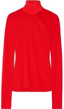 Dion Lee Cutout Merino Wool-blend Turtleneck Sweater - Red
