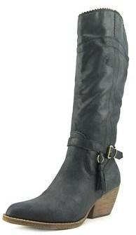 XOXO Dipmay Pointed Toe Canvas Knee High Boot.