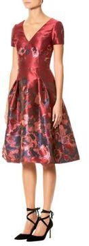 Carolina Herrera Silk Floral Jacquard Dress