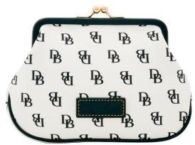 Dooney & Bourke Gretta Large Framed Purse - WHITE BLACK - STYLE
