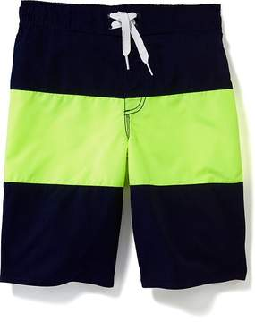 Old Navy Color-Block Lace-Up Swim Trunks for Boys