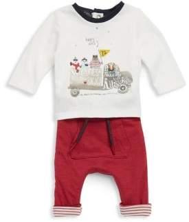 Catimini Baby's Cotton Printed Tee and Reversible Sweatpants Set