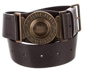 Burberry Leather Buckle Waist Belt