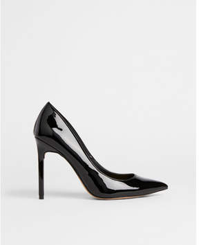 Express patent pointed toe thin heeled pumps