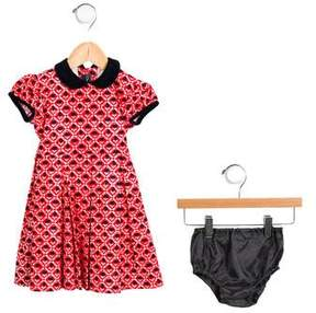 Oscar de la Renta Girls' Printed A-Line Dress w/ Tags