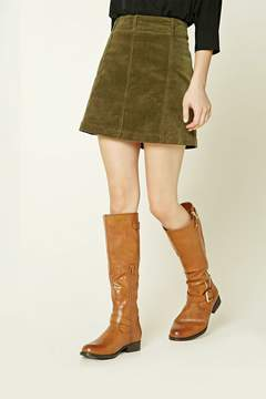 Forever 21 Knee-High Faux Leather Boots